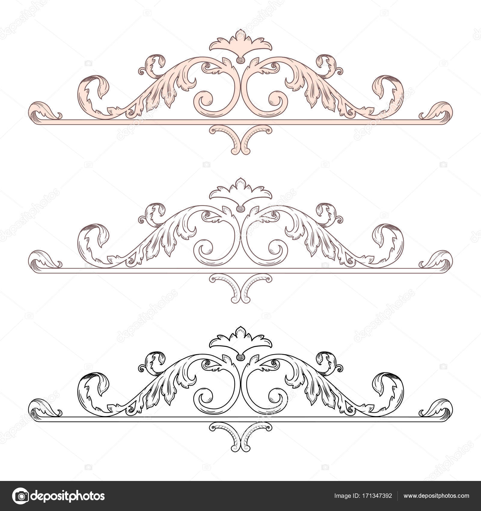victorian frame design. Vintage Baroque Victorian Frame Border Monogram Floral Ornament Leaf Scroll Engraved Retro Flower Pattern Decorative Design