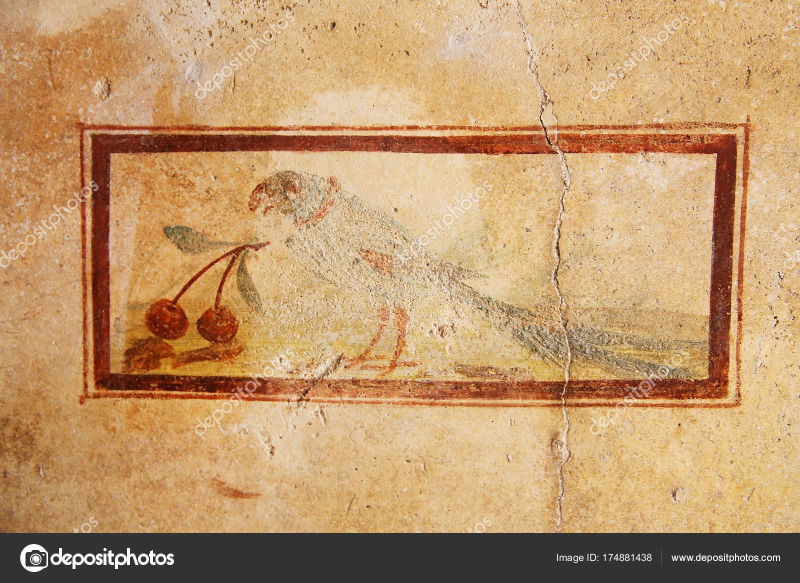Pompeii Italy Fresco Paintings Ancient Roman Walls — Stock Photo ...