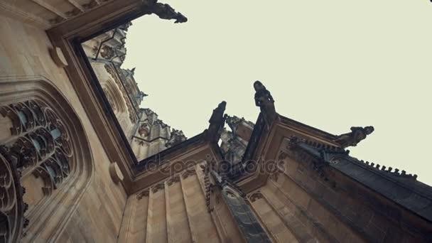 Detailní pohled na gotický chrám sv. Víta v Pražského hradu, Praha, Česká republika