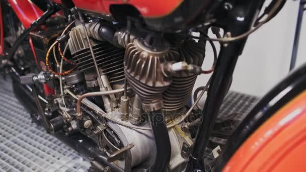 Praha, Česká republika - 24. prosince 2016: detail motocykl Harley Davidson J1928 v muzeu