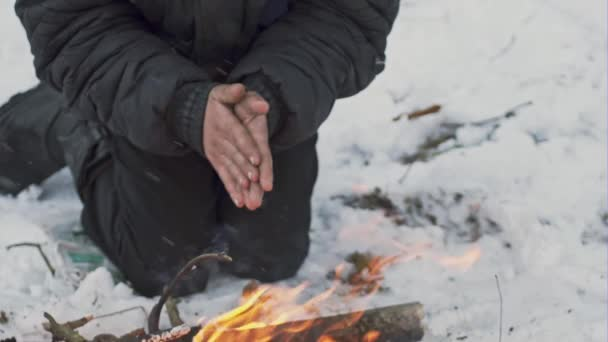 Image result for Freezing and warming up around a fire