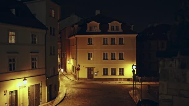 Belle Ancienne Pavee Rue Deserte Dans La Ville De Prague Dans La