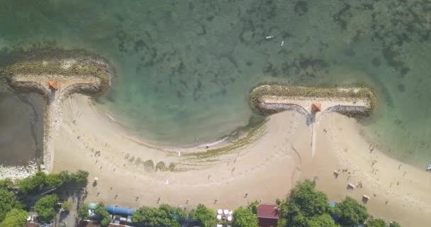Luftaufnahme vom Strand von Sanur
