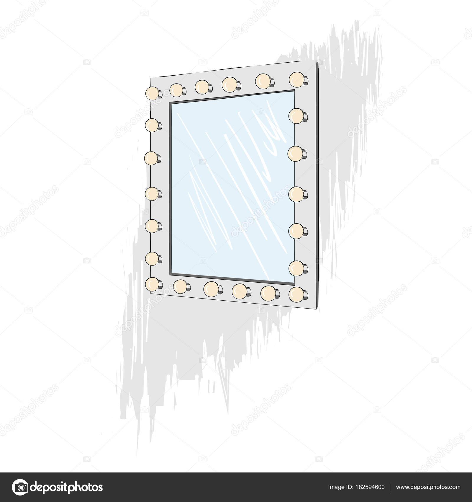 spiegel mit gluhbirnen. Black Bedroom Furniture Sets. Home Design Ideas