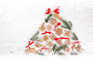 Christmas sweets background