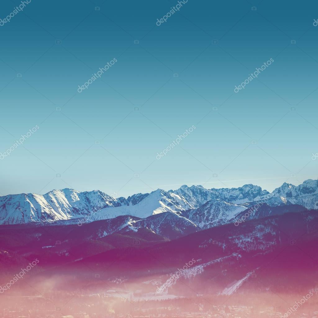 Mountains Tatras in Zakopane city
