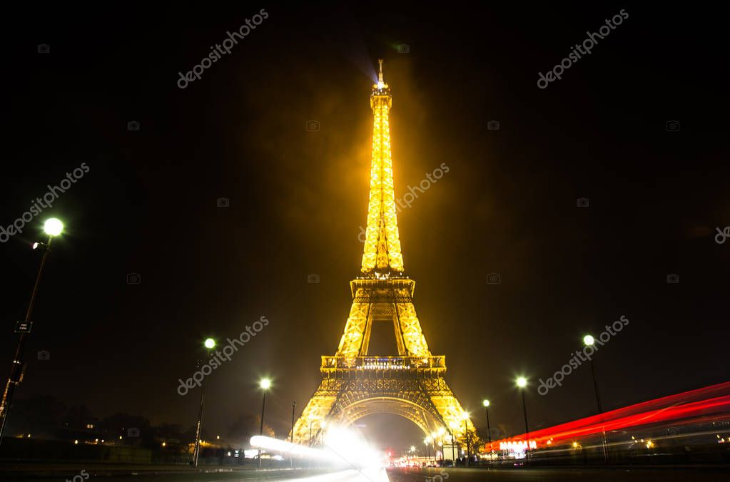 Illuminated Eiffel Tower