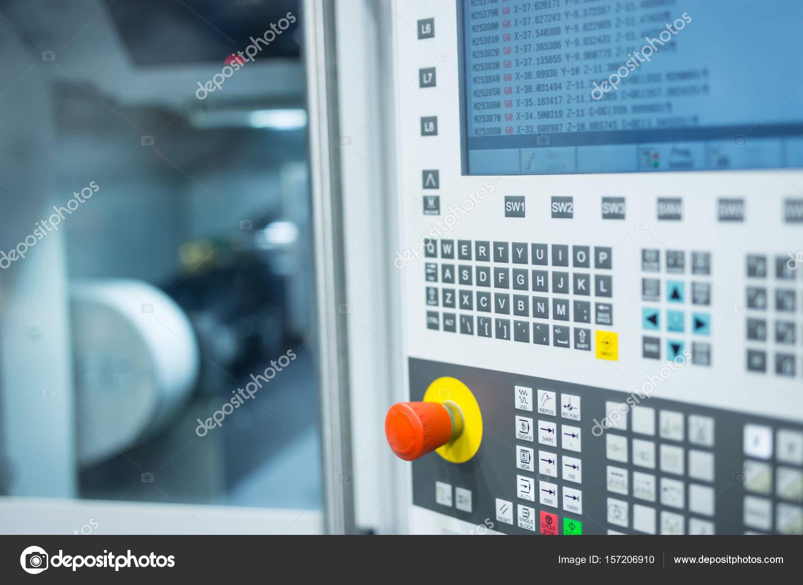 CNC milling machine control panel — Stock Photo © guteksk7 #157206910