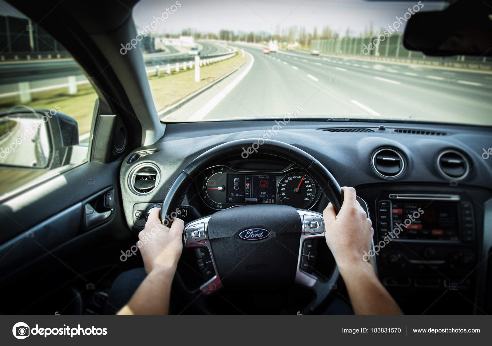 Guteksk7 Stock Person Pov Driving Highway View Point Perspective First Photo 183831570 © — Car