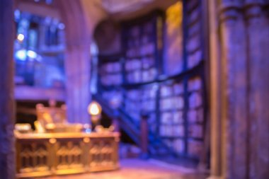 Interior of Dumbledore office and Professor's costume. Decoration Warner Brothers Studio for Harry Potter film
