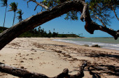 pláž v Pradu, jižní Bahia