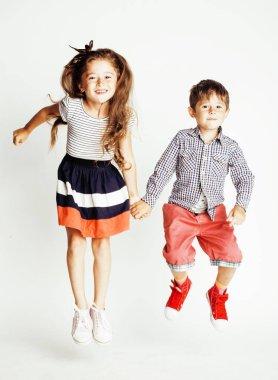 little cute boy and girl