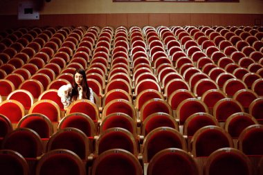 girl in a movie theater
