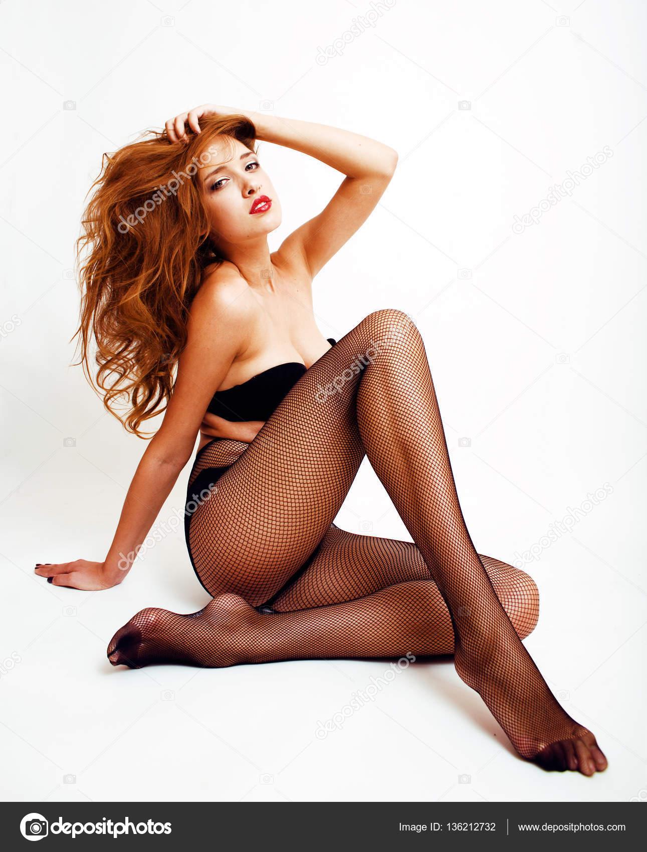 37960d062c1c Mujer en medias negras y lencería — Fotos de Stock © iordani #136212732