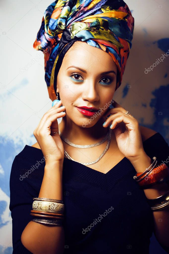 Beauty bright african woman