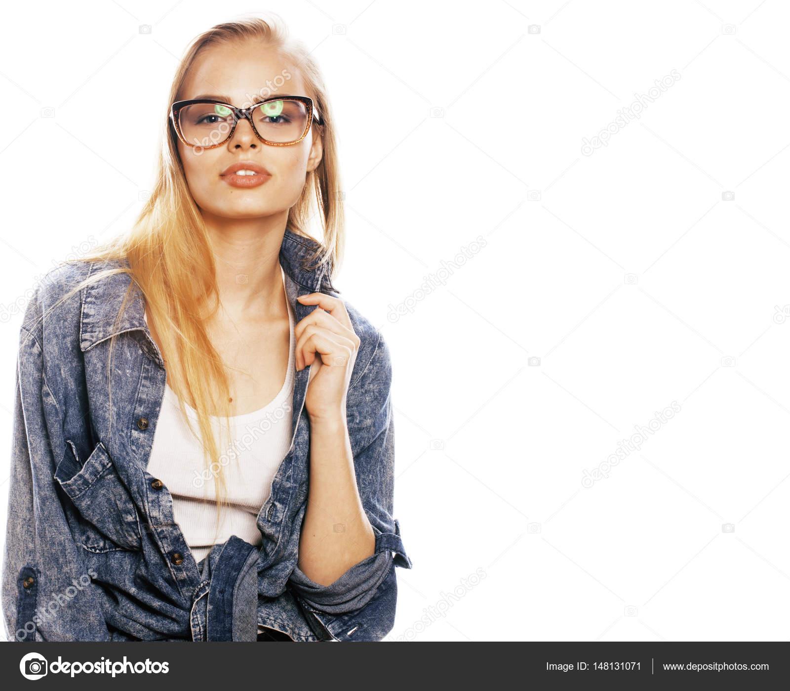 Mladé dospívající sklenice