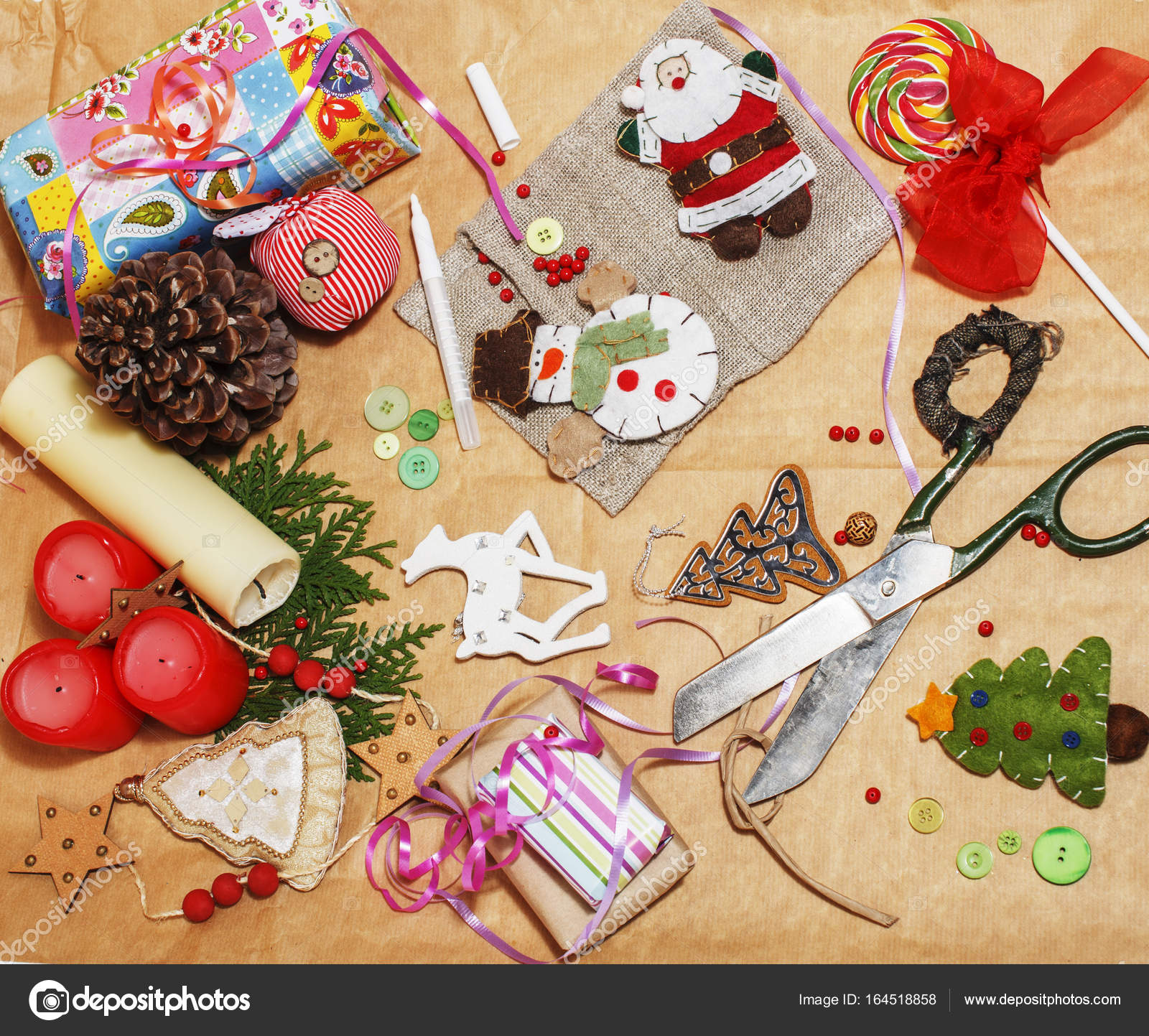 handmade christmas gifts in mess — Stock Photo © iordani #164518858