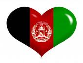 Afghan flag on heart