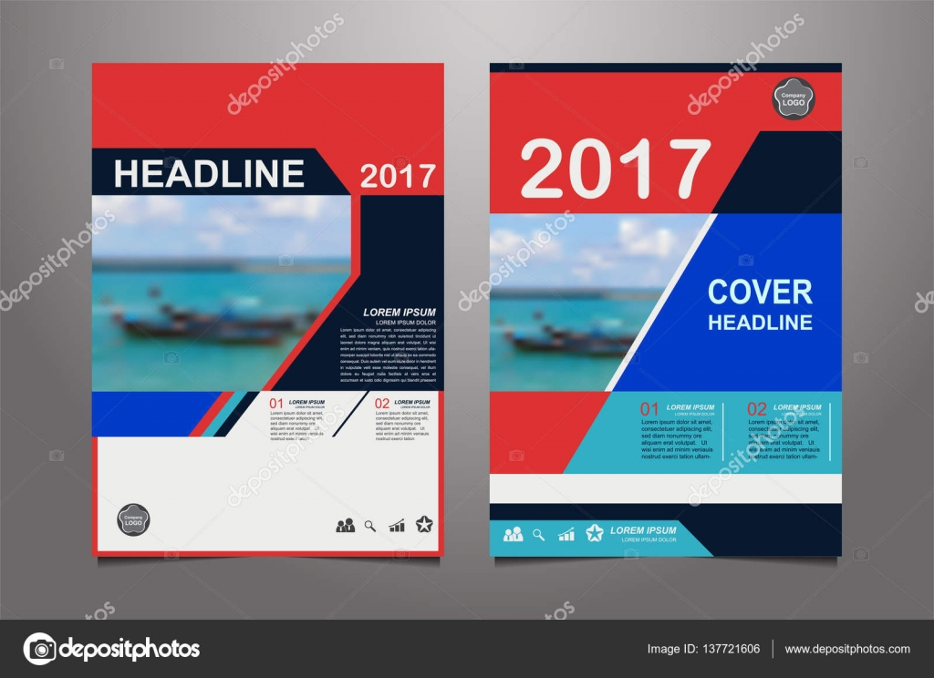 Abstract blue and red presentation book cover templates — Stock ...