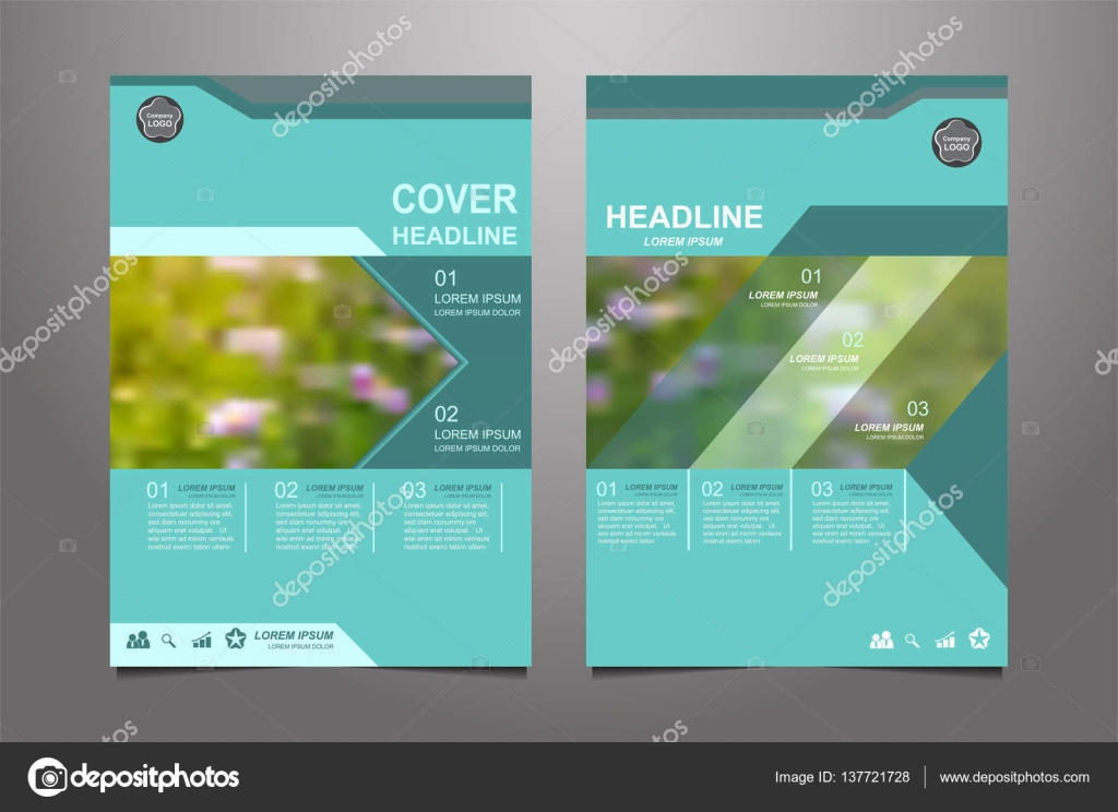 Abstract green mint presentation book cover templates — Stock Vector ...