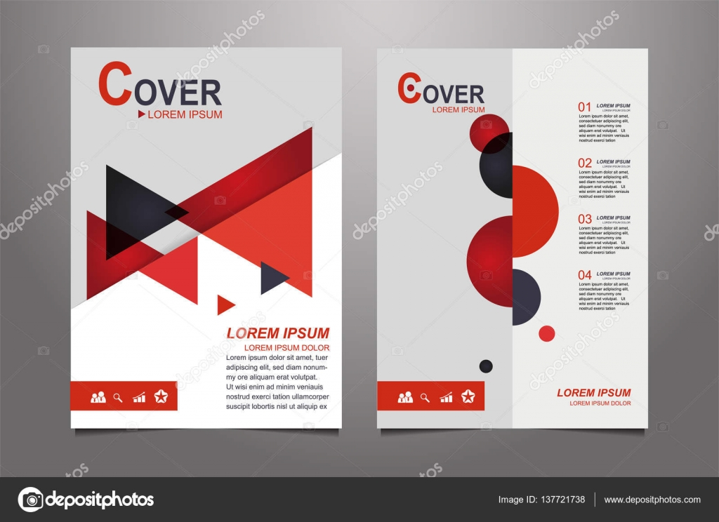 abstract red presentation book cover design templates stock vector