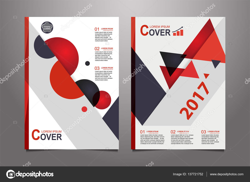 Abstract red presentation book cover design templates — Stock Vector ...