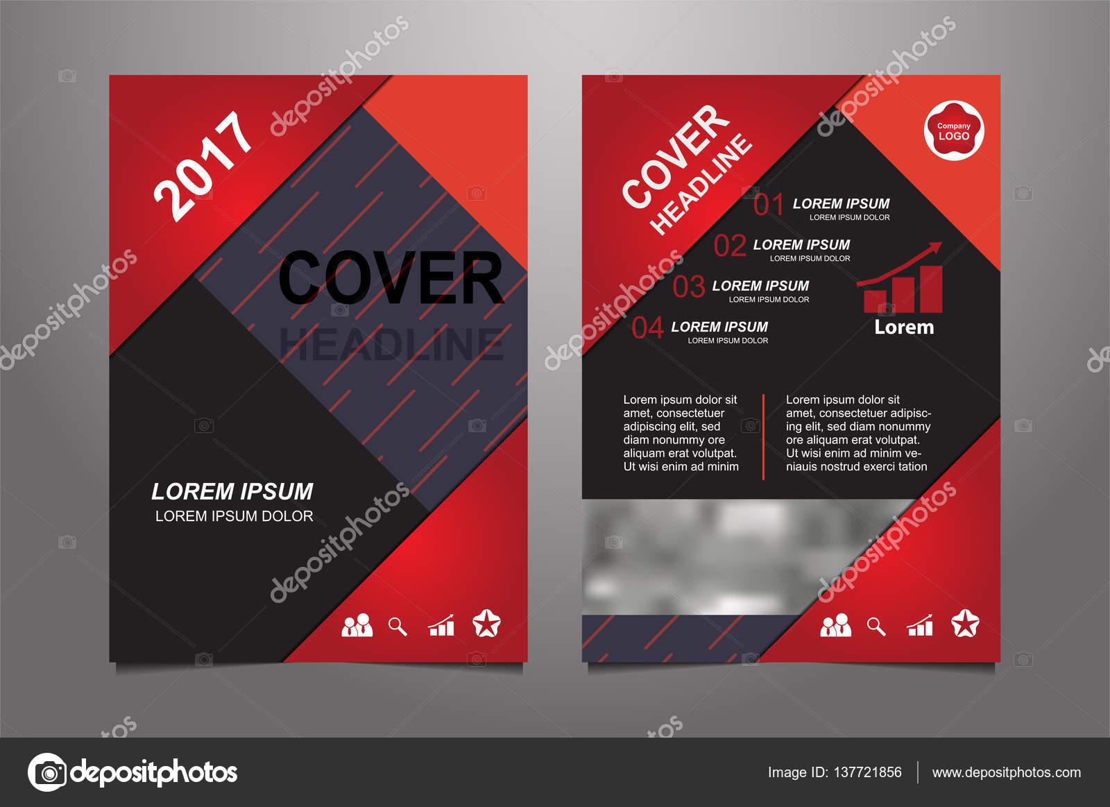 Abstrakt rot Präsentation Buch Cover-Design-Vorlagen — Stockvektor ...