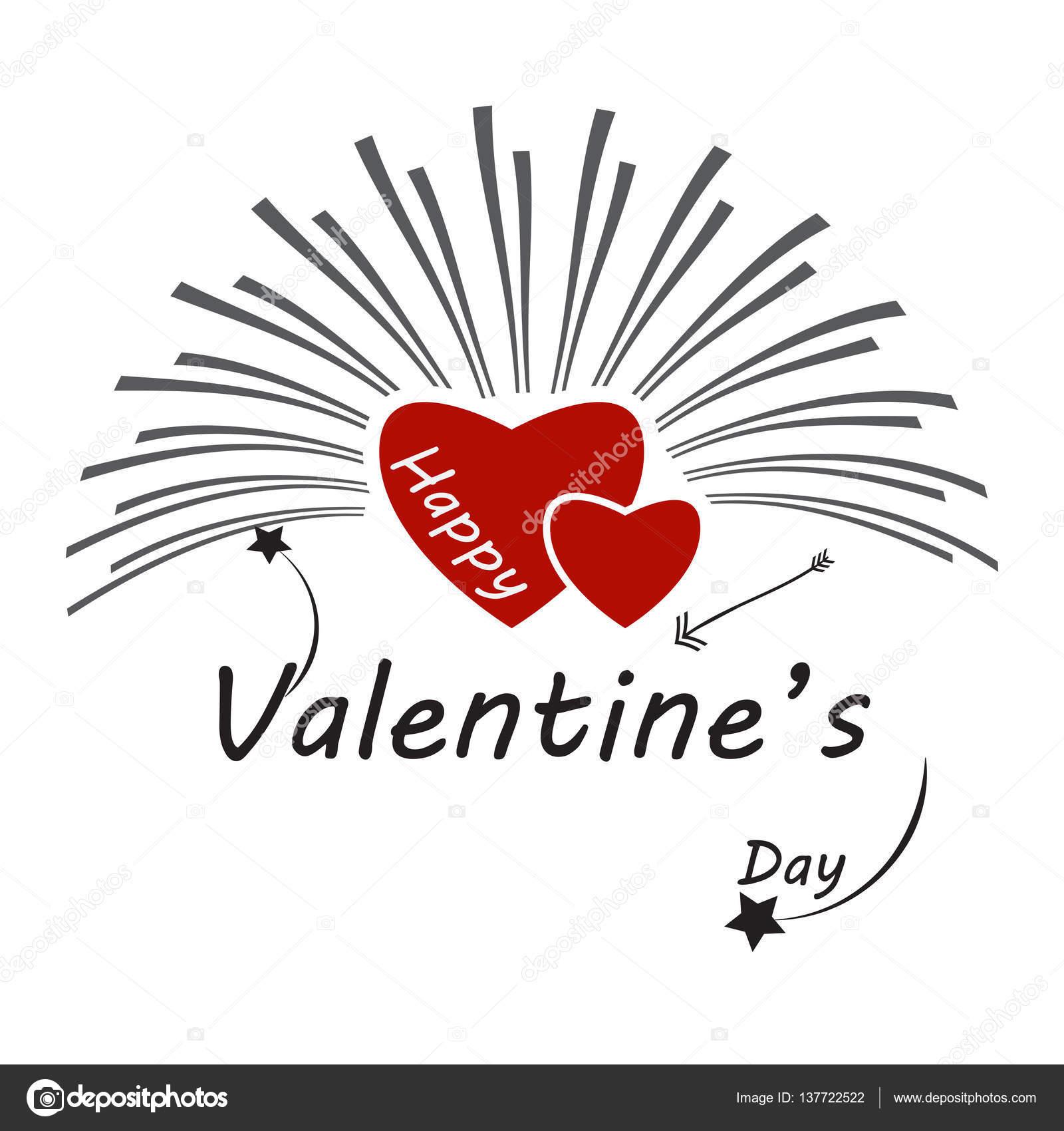 Resumen de la forma del corazón. Ideal para el diseño de la tarjeta ...