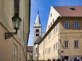Prag Tschechische Republik. die mittelalterlichen Gassen an der Burg.