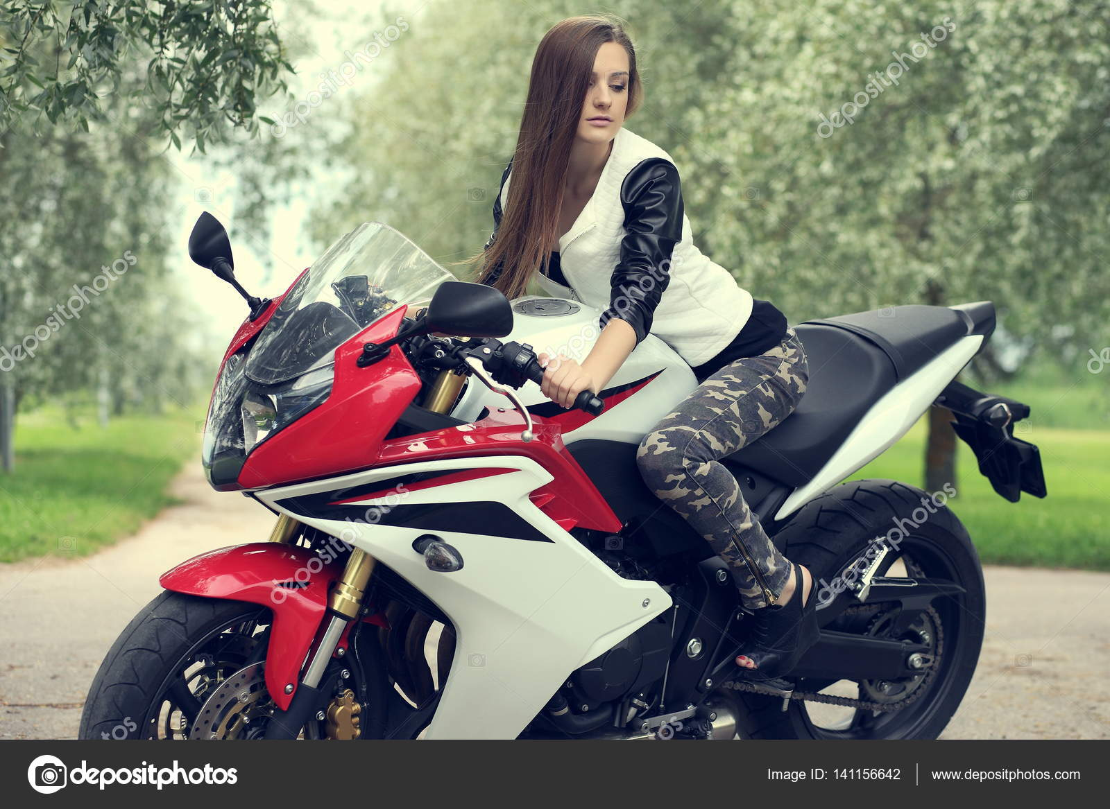 Phrase... Nude girl posing on motorcycle simply matchless