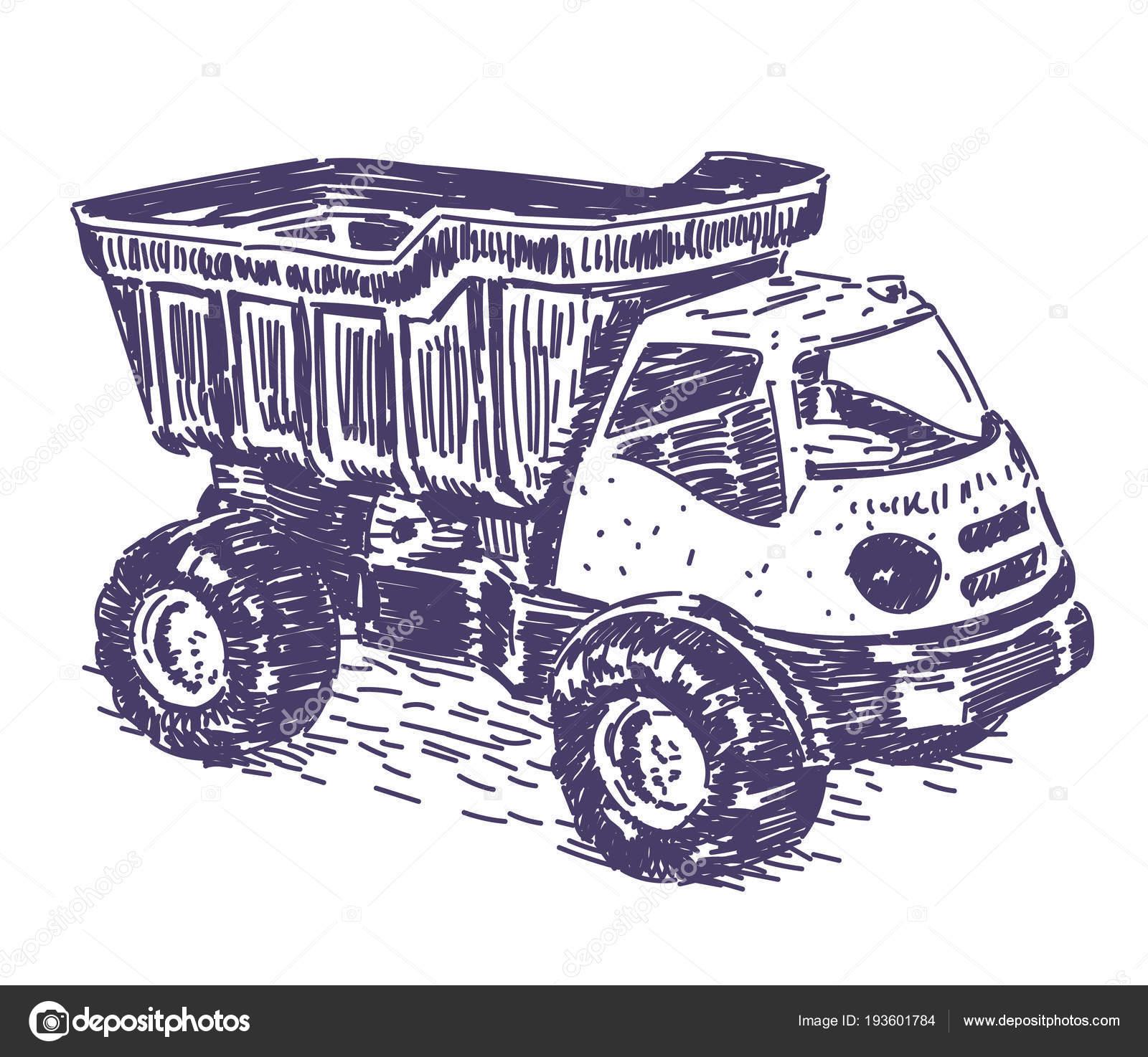 Dibujo Vectorial De Carro De Juguete Vector De Stock C Noundo