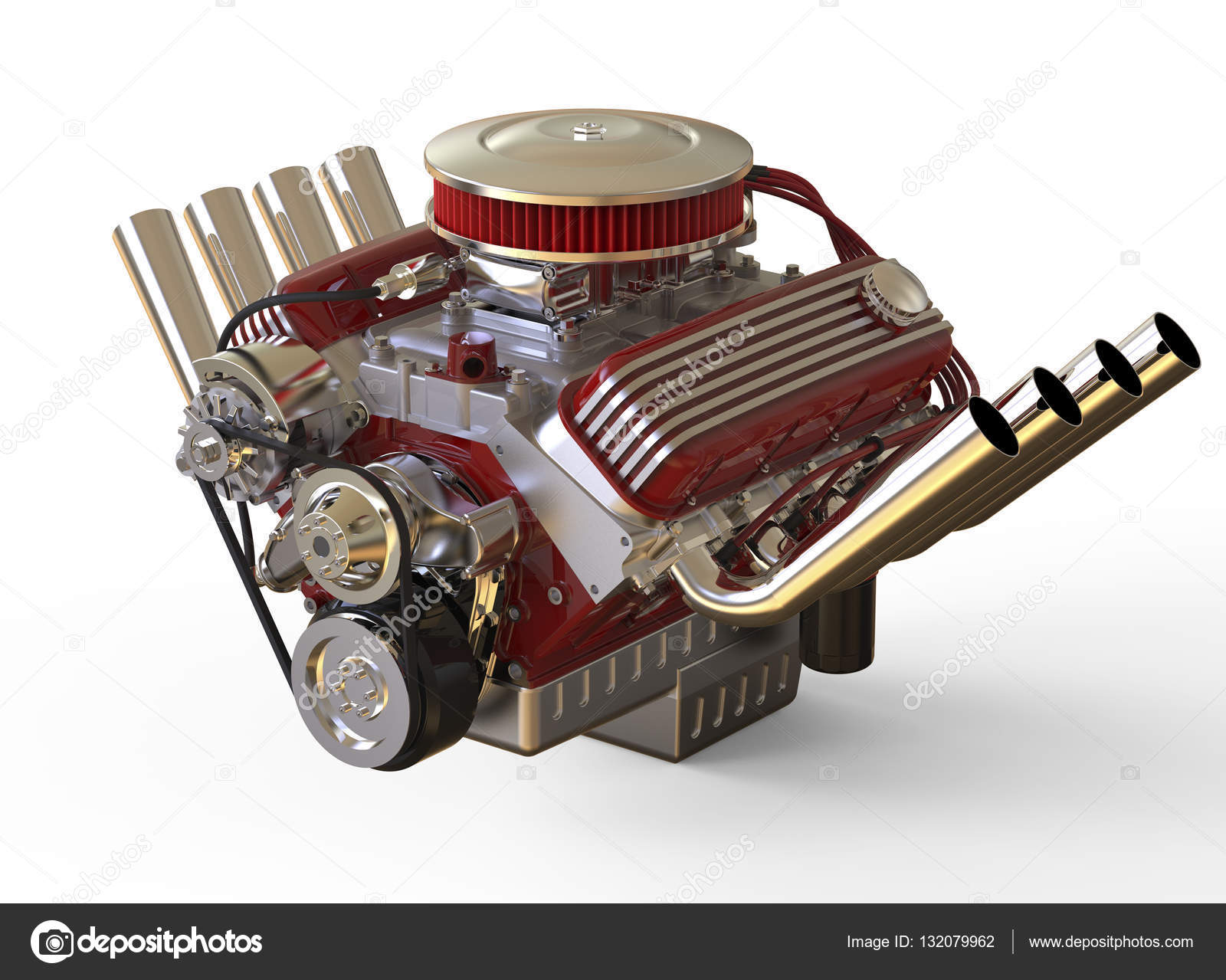 Hot rod V8 Engine 3D render — Stock Photo © gorbovoi81 #132079962