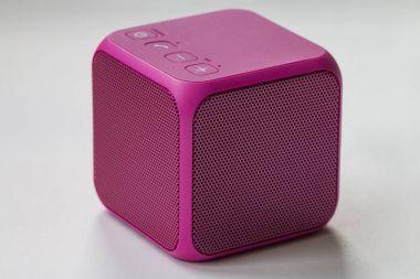 Wireless Portable pink Speaker cube