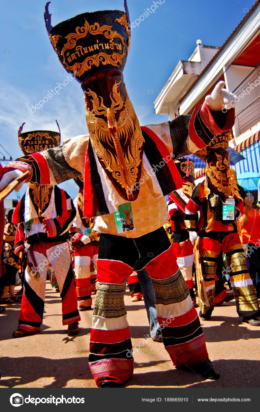 LOEI, THAILAND - JUNE 6 : PHI TA KHON Festival (Ghost