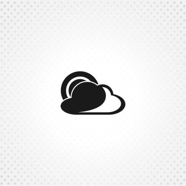 Weather forecast icon on white background clip art vector
