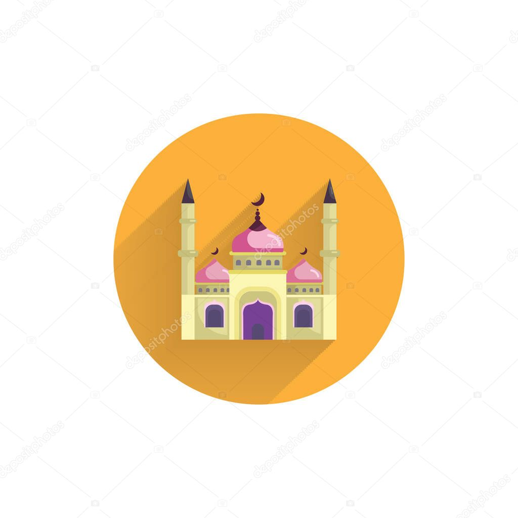 mosque colorful flat icon with long shadow mosque islam flat icon premium vector in adobe illustrator ai ai format encapsulated postscript eps eps format wdrfree