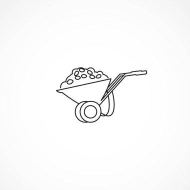 Handcart line icon. handcart isolated line icon icon