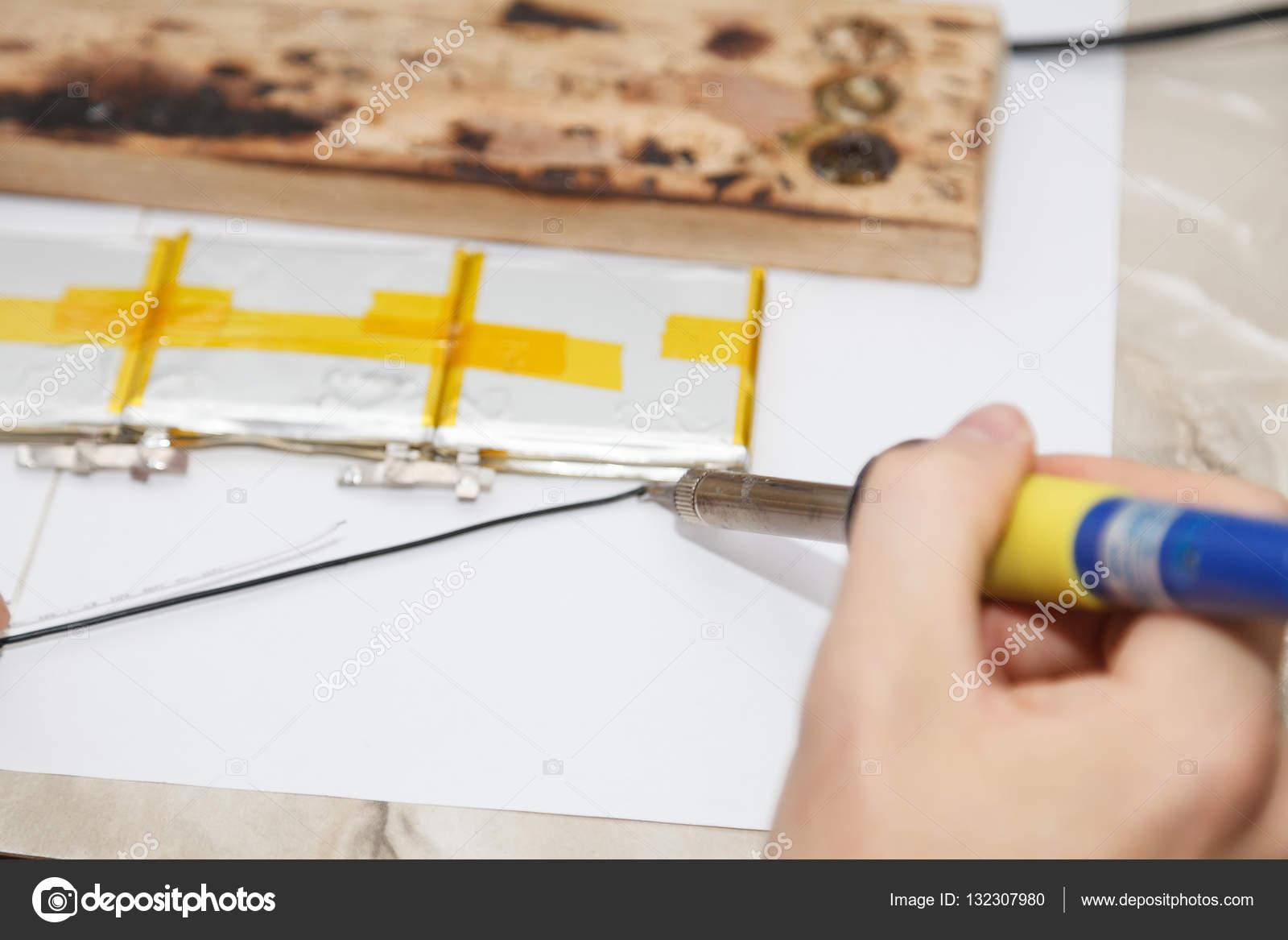 Male Artist Works Solder Wire Workshop Stock Photo Vnazarets How To A