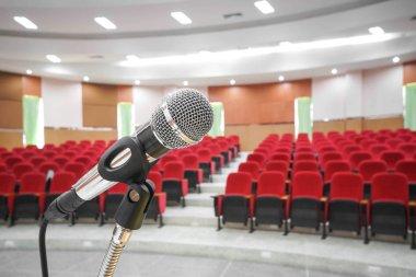 Microphone in vintage auditorium
