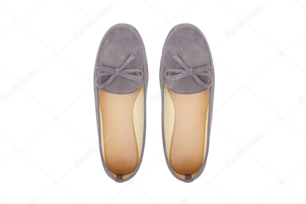d0becf849eb Flat παπούτσια μπαλαρίνα απομονωμένες — Φωτογραφία Αρχείου ...