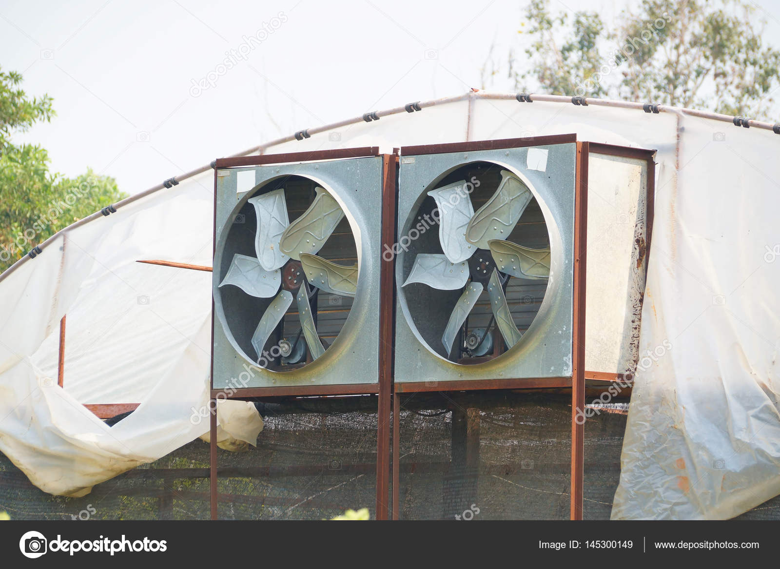 Gewachshaus Luftzirkulation Und Beluftung Stockfoto C Weerapat