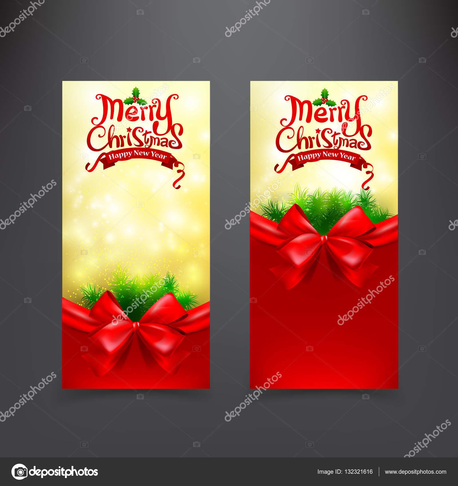 Plantilla de tarjeta de Navidad para invitación y regalo bono rojo ...