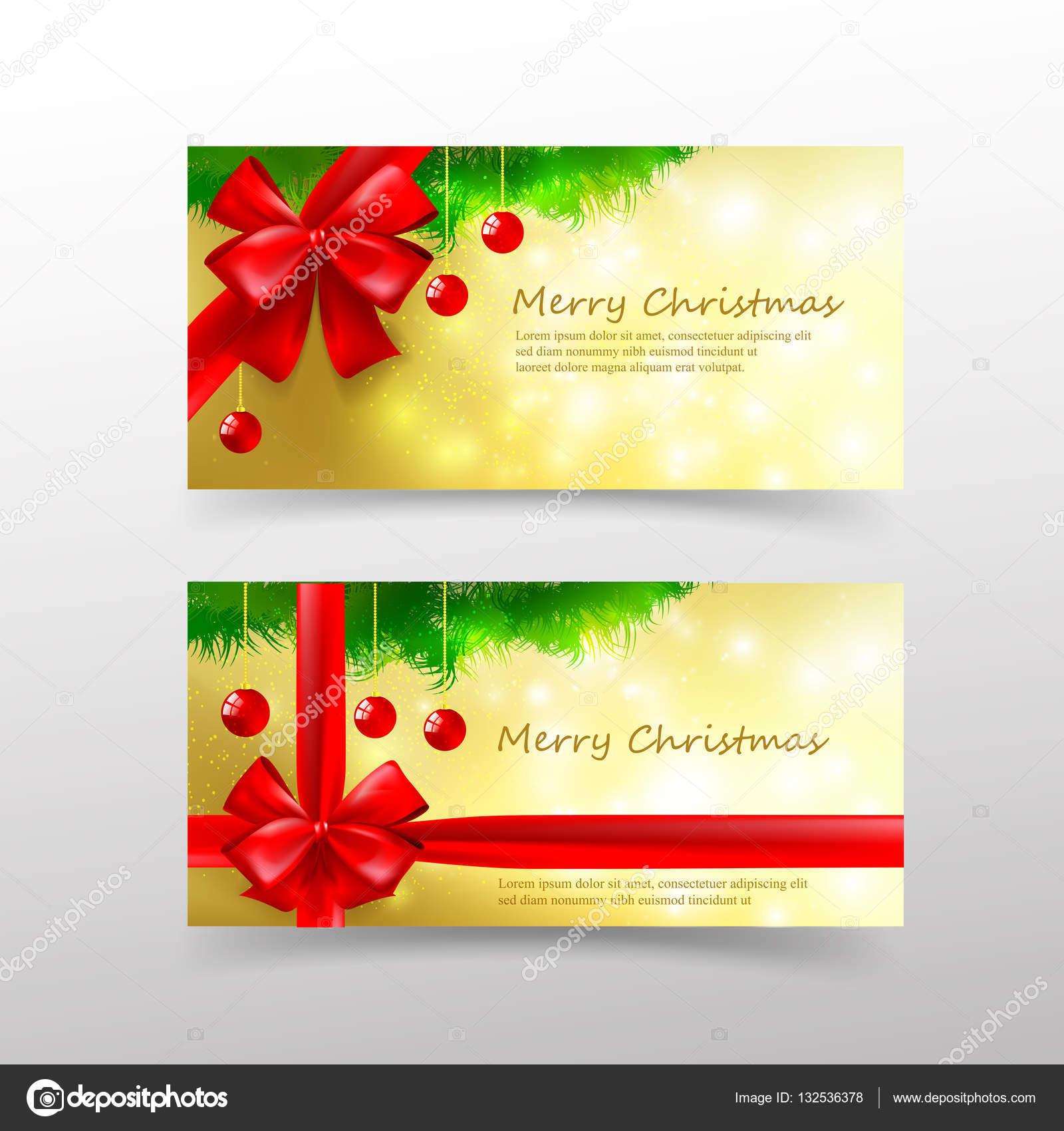 Vector Bono Navidad Plantilla De Tarjeta De Navidad 005