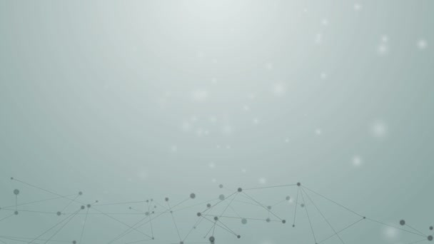 Abstract background of connection concept dot and line element moving on light background