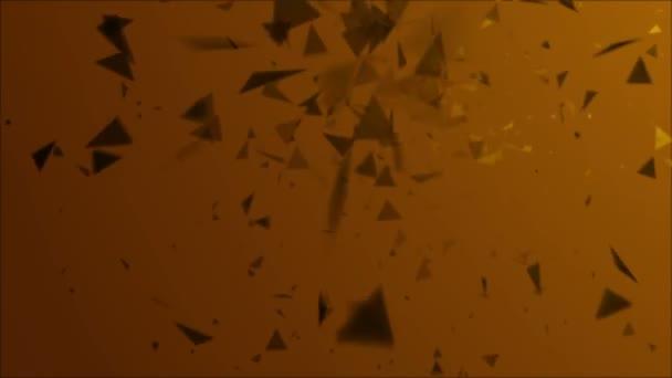 4k absztrakt háttér részecske mező felrobban a narancssárga háttér