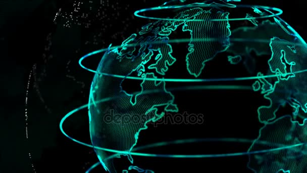 4k animation globe with dot world map element spin for cyber and 4k animation globe with dot world map element spin for cyber and futuristic technology concept on gumiabroncs Image collections