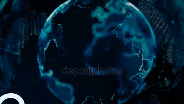 4k animation globe with dot world map hud and infographic graph bar 4k animation globe with dot world map hud and infographic graph bar element spin on dark gumiabroncs Image collections