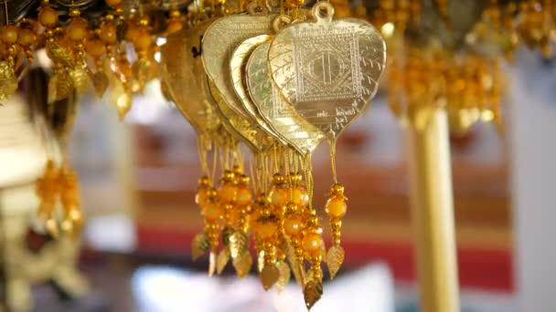 Oro Hoja Ala Metáfora Buena Suerte Bendición Religión Budista ...