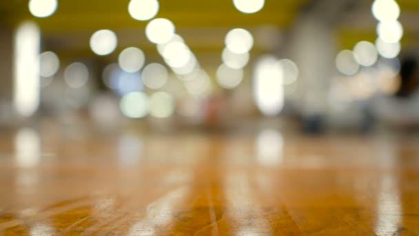 Fa padló, a fókusz bokeh blur absztrakt háttér sekély mélységélesség Beszúrás termék vagy szöveg másolás szóközzel