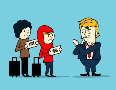 Donald Trump ban  muslim immigration people.